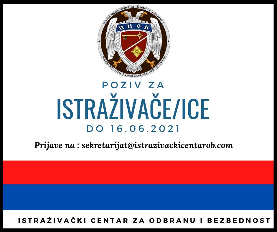 POZIV ZA ISTRAŽIVAČE/ICE